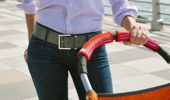 CityGrips Чехлы на ручки для универсальной коляски  Chevron navy CITYGRIPS_чехол универсальный