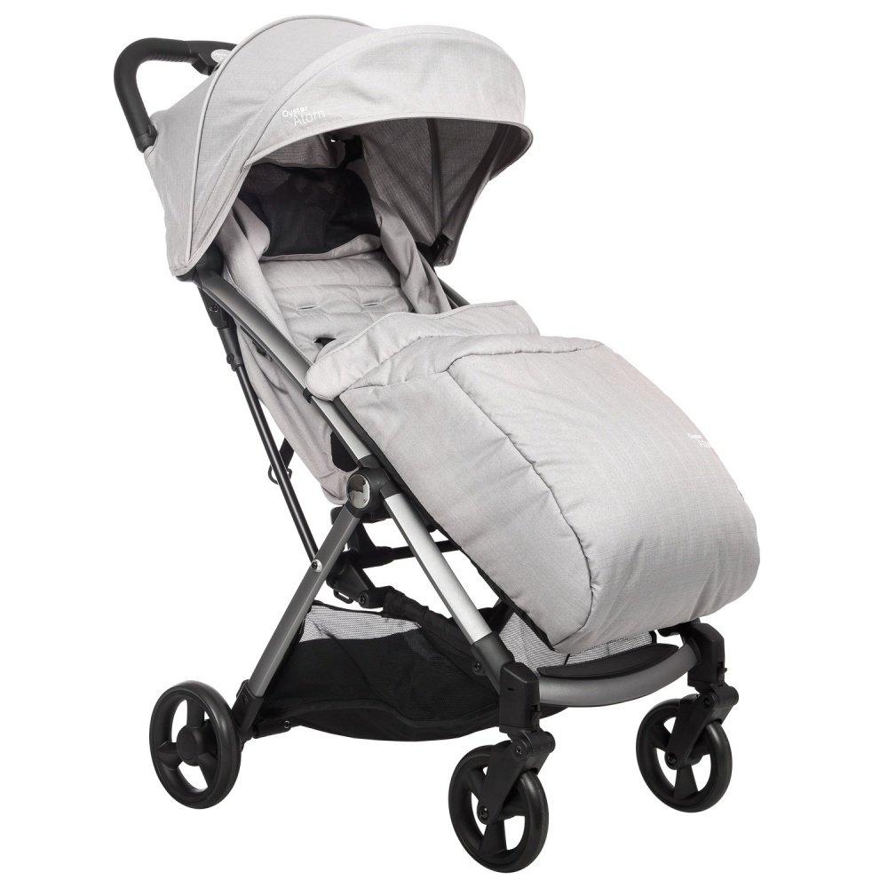Купить Прогулочные коляски, OYSTER Прогулочная коляска Atom Pure Silver с накидкой на ножки