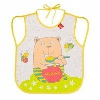 "HAPPY BABY Нагрудный фартук ""BABY BIB WITH HANGERS"" YELLOW (BEAR)"