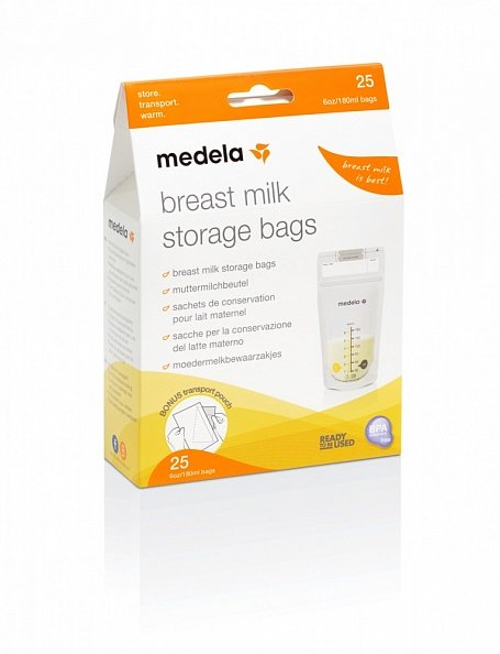 Medela пакеты одноразовые для грудного молока Breast Milk Storage Bags 25шт
