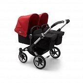 Bugaboo Donkey3 коляска 2 в 1 для двойни Twin Alu/Black/Red
