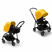 Bugaboo Bee6 коляска 2 в 1 Black/Black/Lemon Yellow