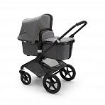 Bugaboo Fox2 Classic коляска 2 в 1 Black/ Grey Melange complete
