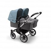 Bugaboo Donkey3 коляска 2 в 1 для двойни Twin Alu/Grey Melange/Vapor Blue