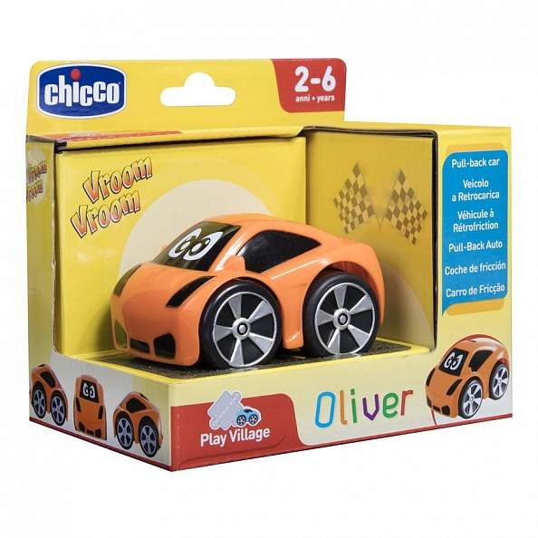 CHICCO Машинка Turbo Touch Oliver (оранжевая)