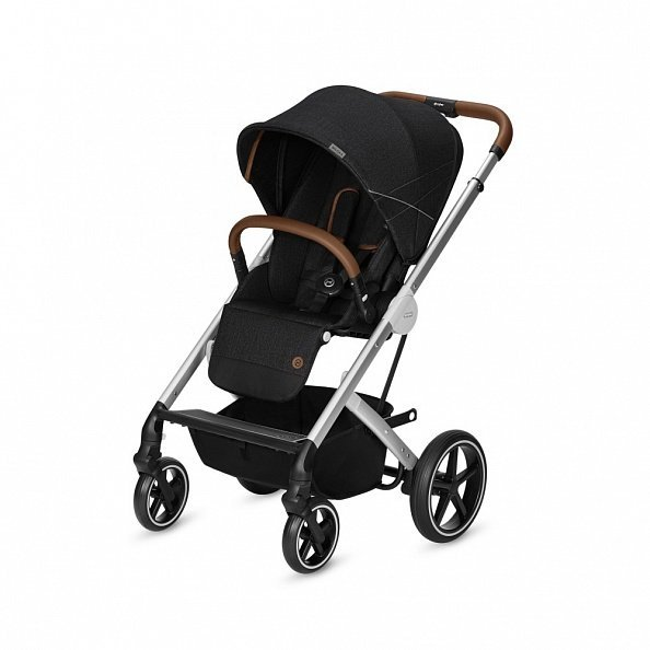 Cybex Коляска 2 в 1 Balios S Lavastone Black Denim Collection с дождевиком