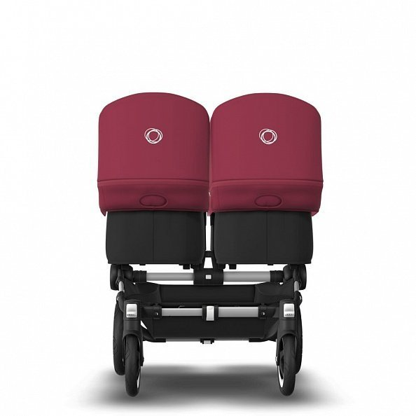 Bugaboo Коляска 2 в 1 для двойни Donkey 2 Twin ALU/ BLACK/RUBY RED