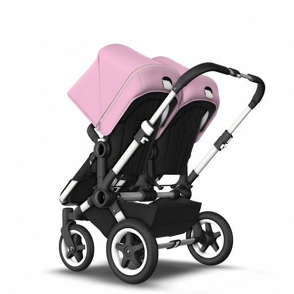 Bugaboo Коляска 2 в 1 для двойни Donkey 2 Twin ALU/ BLACK/SOFT PINK