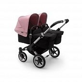 Bugaboo Donkey3 коляска 2 в 1 для двойни Twin Alu/Black/Soft Pink
