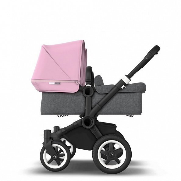 Bugaboo Коляска 2 в 1 для двойни Donkey 2 Twin BLACK/GREY MELANGE/SOFT PINK