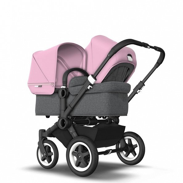 Bugaboo Коляска 2 в 1 для погодок Donkey 2 Duo BLACK/GREY MELANGE/SOFT PINK