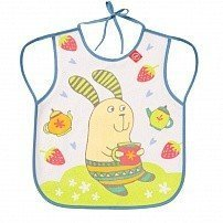 "HAPPY BABY Нагрудный фартук ""BABY BIB WITH HANGERS"" LILAC (RABBIT)"