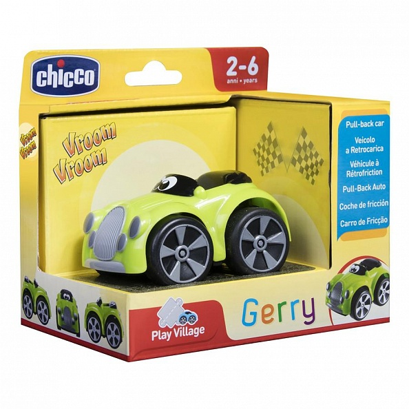 Chicco машинка Turbo Touch Gerry зеленая