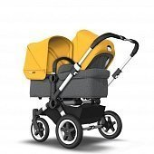 Bugaboo Коляска 2 в 1 для погодок Donkey 2 Duo ALU/GREY MELANGE/SUNRISE YELLOW