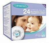 Lansinoh вкладыши в бюстгальтер Lock Disposable Nursing Pads 24 шт