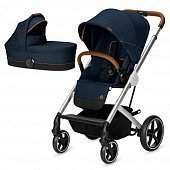 Cybex Коляска 2 в 1 Balios S Denim Blue Denim Collection с дождевиком