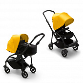 Bugaboo Bee6 коляска 2 в 1 Black/Black/Lemon Yellow complete